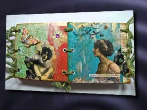 Mixed Media Art Book with Cristina Zinnia Galliher ~*~Roses On My Table~*~