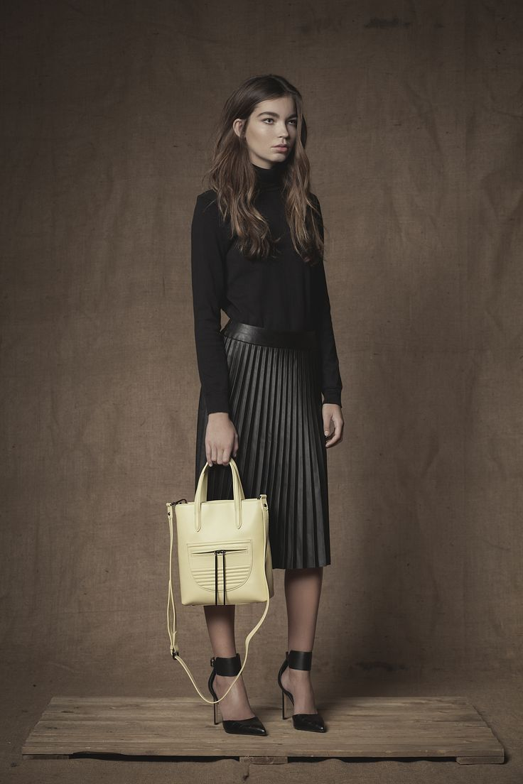 Monaco Mini Shopper in Pear #Mini #Shopper #Handbag #FW15 #Pear #Leather