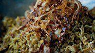 Mžaddra – rýže s čočkou a osmaženou cibulkou
