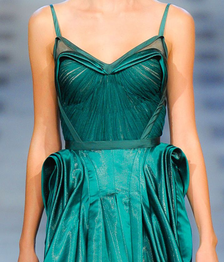 : Couture Details, Fashion Details, Zac Posen, Teal Gowns, Beautiful Dresses, Posen Spring, Beloved Colors, Spring 2012, Haute Couture