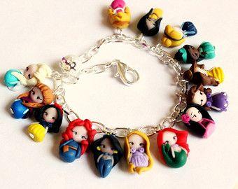 Disney Princesses inspired,bracelet collection. Thumbnail princesses.