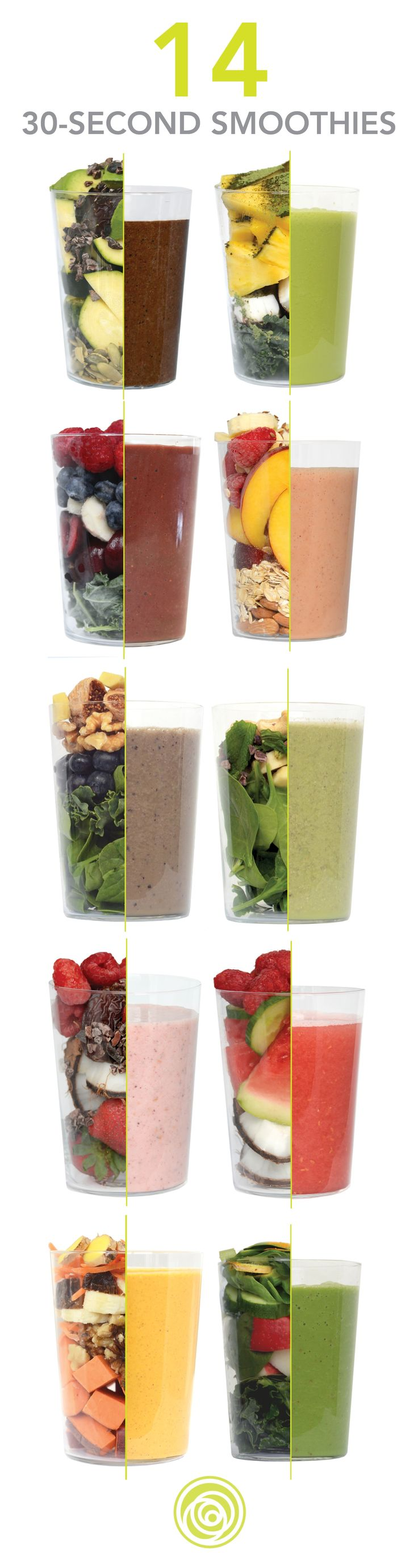 Ready-to-blend frozen smoothies delivered to your door. 14 flavors or raw, whole, real ingredients and superfoods. Just open, blend and enjoy. No prepping, no mess, no leftovers. Get 2 FREE blends with your first box! #weightlosssmoothiesrecipes