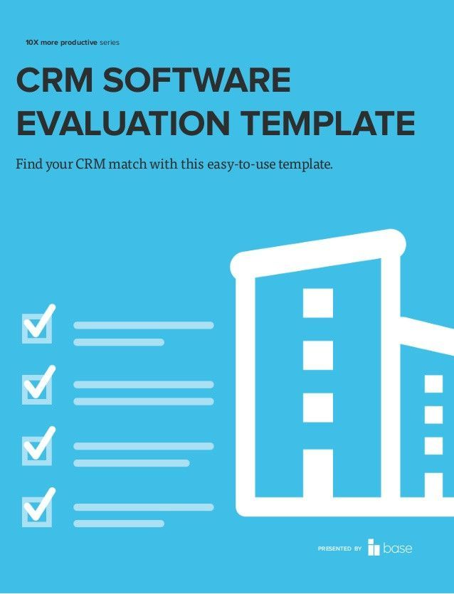 Crm Software Evaluation Template Liebenswert Software Requirements