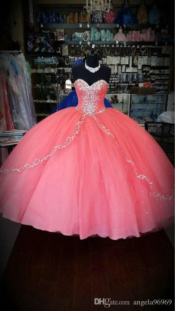 Quinceanera History Coral Quinceanera Dresses 2016 New Unique Cheap Quinceanera Gowns Ruffles Layers Tulle Sweetheart For 15 Years Debutante Party Ball Gowns Quinceanera Themes From Angela96969, $176.97| Dhgate.Com