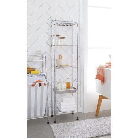 Threshold Towel Tower Metal Furn Bathroom Ideas