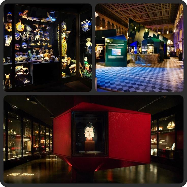 """Världskulturmuseerna"""" Swedish National Museums of World Culture  Etnografiska (top left), Medelhavsmuseet (top right), Östasiatiska (bottom)"""