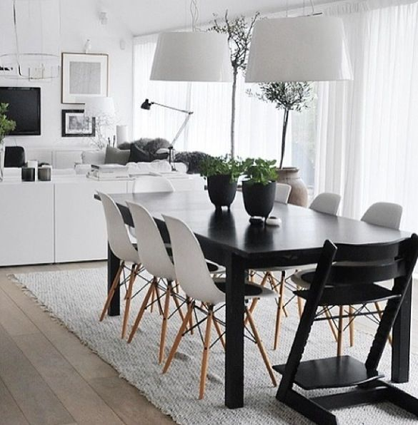 Black And White Dining Room Cheap Round Glass Kitchen Table Set Wood Breakfast Chairs Small