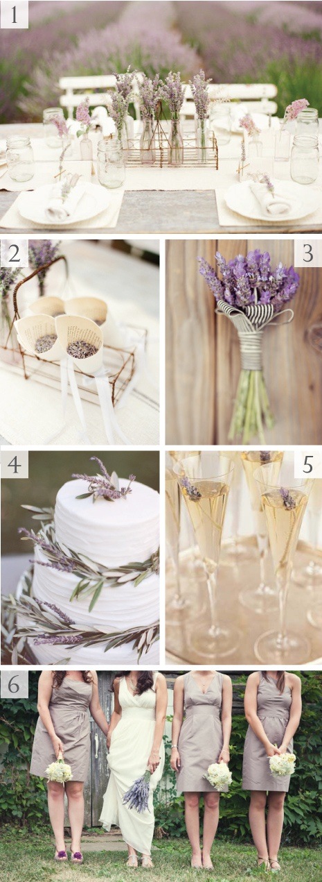 2. dried lavender wedding toss