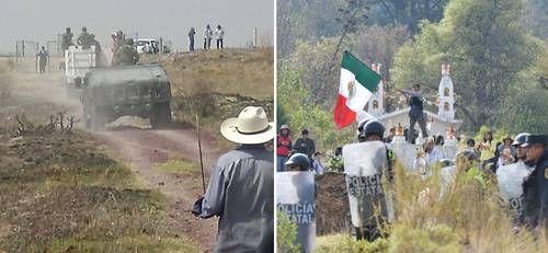 CONATO DE ENFRENTAMIENTO ENTRE SOLDADOS Y POBLADORES DE  SAN SALVADOR ATENCO