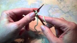 Chinese Waitress Cast-On, via YouTube ... from the book, Cast-on Bind-off ... similar to knitted-on cast-on but not the same ... looks good on both sides: Knit Cast, Knitting Crochet, Knitting Techniques, Knitting Needle, Chinese Waitress, Waitress Cast On