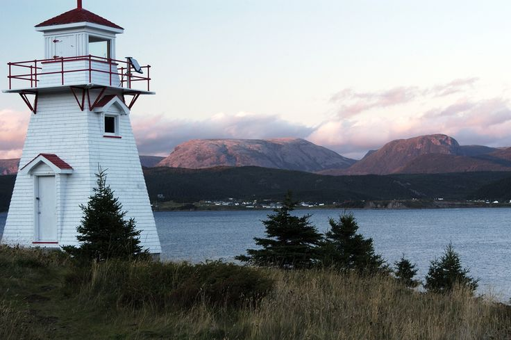 Norris Point, Gros Morne Mountain and Woody Point Lighthouse, Newfoundland  www.facebook.com/loveswish