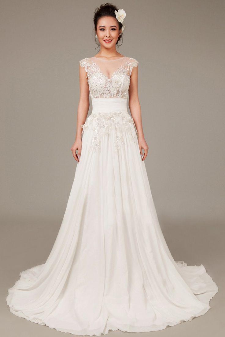 142 best scoop neck wedding dress images on pinterest