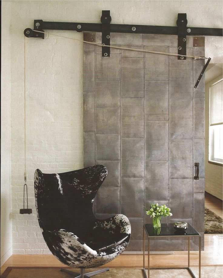 Reclaimed metal door industrial modern or eclectic for Metal barn doors