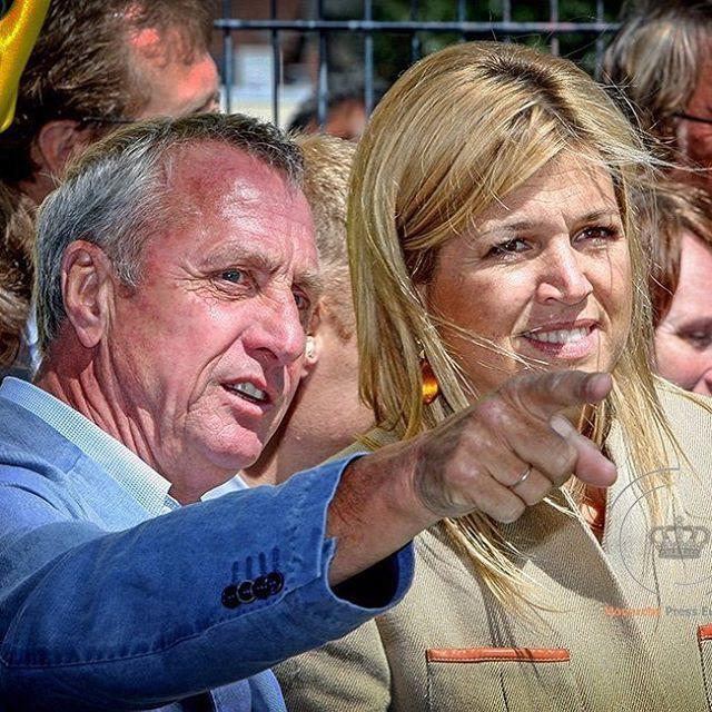 Rust zacht Johan Cruijff  Rest in peace Johan Cruijff  #johancruyff #johancruijff #koninginmaxima #queenmaxima : @patrickvkatwijk