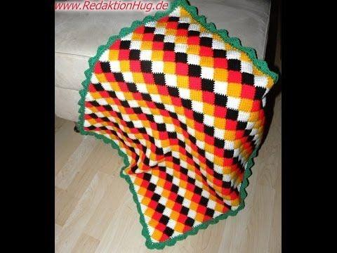 tunesisch h keln entrelac wm decke teil 1 youtube tunisian crochet pinterest oz. Black Bedroom Furniture Sets. Home Design Ideas