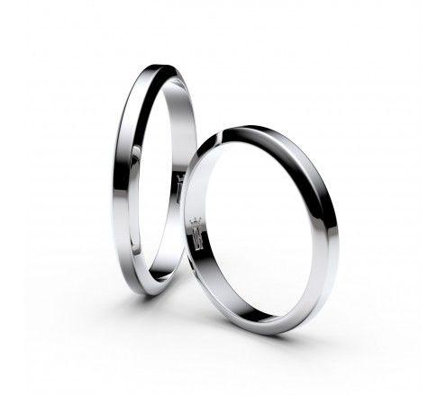 Snubní prsteny ze stříbra, 2.7 mm, lichoběžný, pár - 6A30