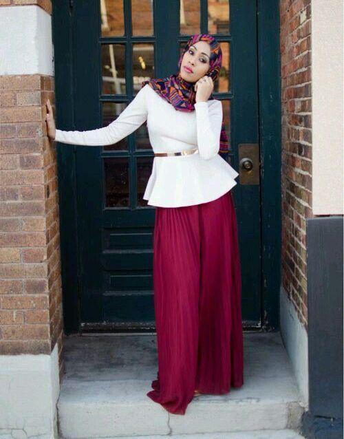 Model Baju Muslim Atasan Peplum