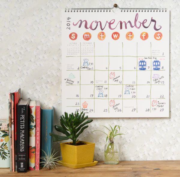 Organize your watercolor calendar!