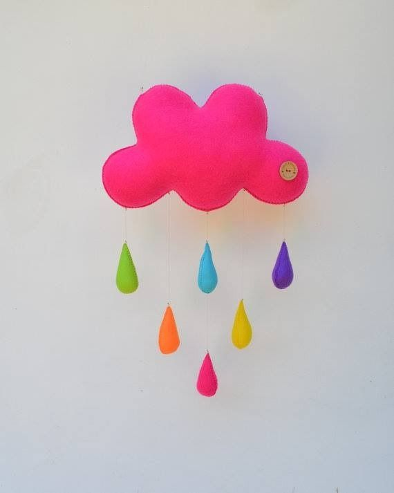 DIY felt cloud mobile