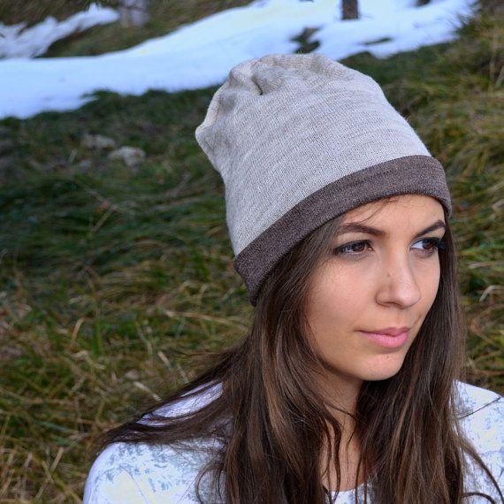 Cappello double face in lana bio di ClanWeAreClothing su Etsy