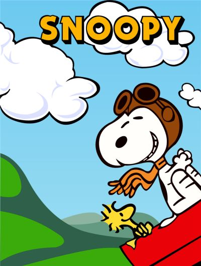 Peanuts Snoopy Flying Ace Wood