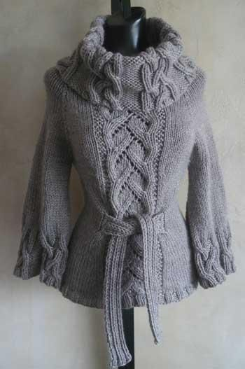 This is sooo cozy looking....I love the way it ties up in the front.