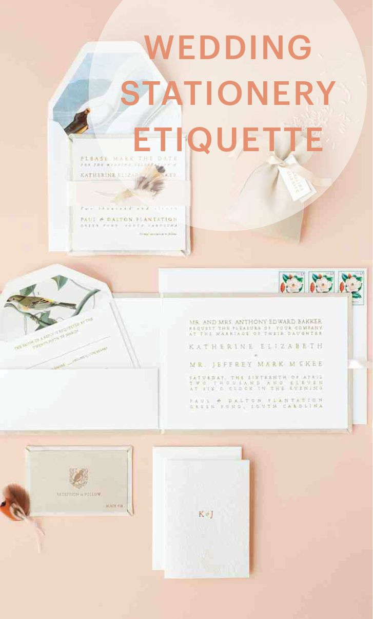 Your Wedding Stationery Etiquette Questions Answered | Martha Stewart Weddings - Your save-the-dates, invitations, and all the printed correspondence surrounding your celebration can move along without a hitch, with help from these solutions to common sticklers others have faced before you.