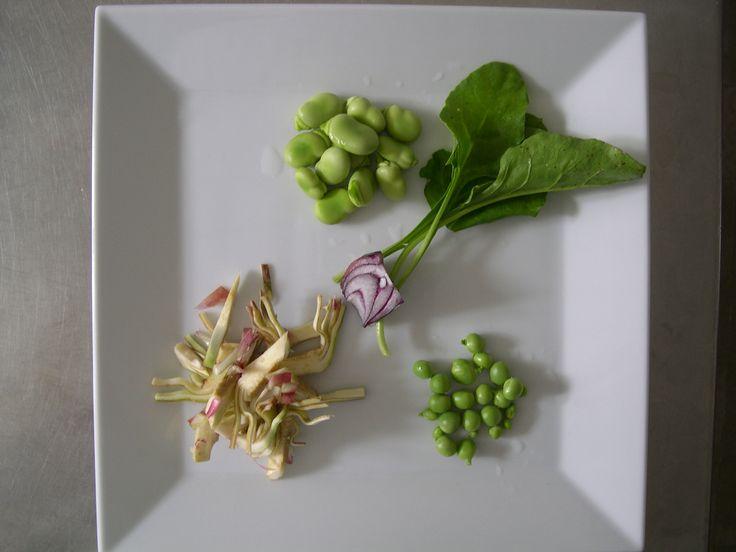 Locanda la Pieve Fresh spring organic vegetables for a nice, simply receipt
