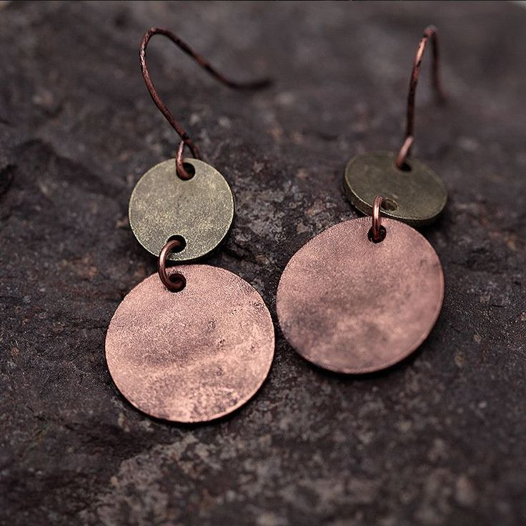 ACCORD | BOHO CHIC EARRINGS Get on the Old World boho style map with these gorgeous two-tone metallic earrings. Beautifully burnished in antique copper, shimmering with tellurian grace, you'll become a muse of contemporary vintage fashion when you wear Accord.
