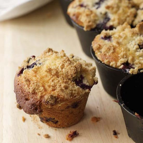These fantastic recipes include blueberry muffins with crumb topping and chocolate chip and banana muffins.