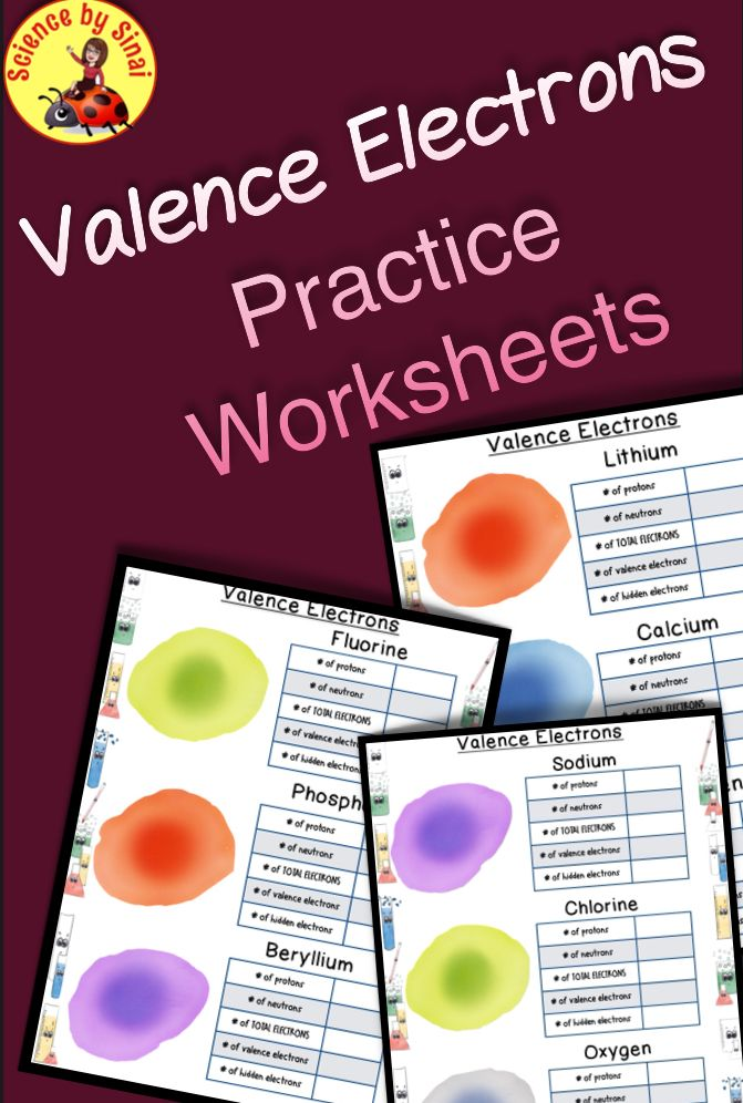 Valence Electrons Introduction 3 Worksheets Ms Ps1 1 Hs Ps1 2 Tpt Digital Science Interactive Science Notebook Learning Science