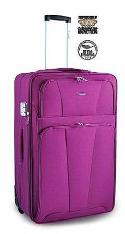 Large suitcase with durable fabric, very light, with 2 wheels and extension for large capacity