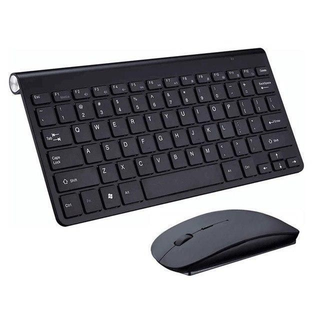 Ultra Slim 2.4G Wireless Optical Keyboard Keypad and Mouse Set Kit For PC Laptop