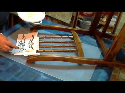 мастер-класс по реставрации стула - YouTube