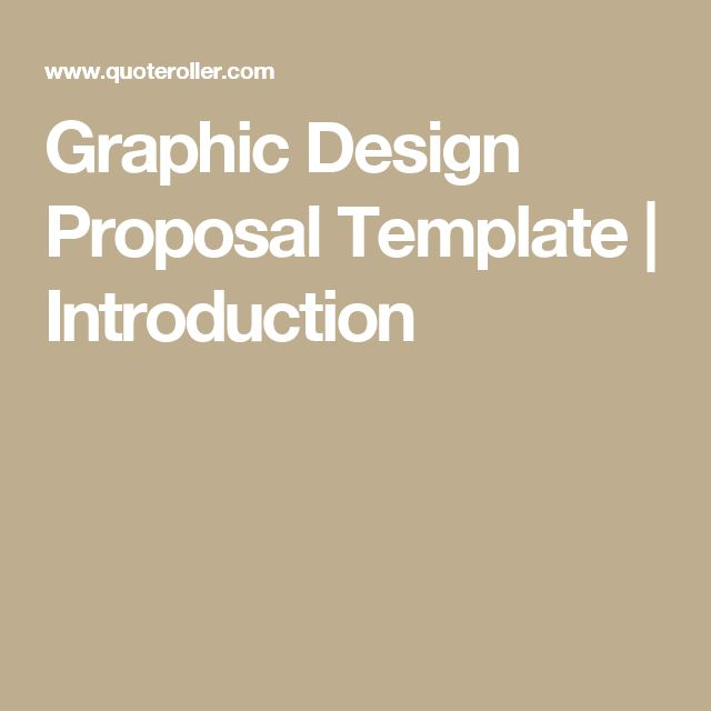 Graphic Design Proposal Template Introduction GRAPHIC DESIGN - graphic design proposal template