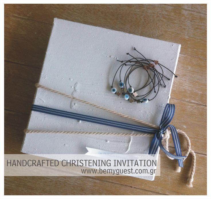 Sifnos island | handcrafted | wedding & christening invitation | white & blue | aegean inspirations | www.bemyguest.com.gr