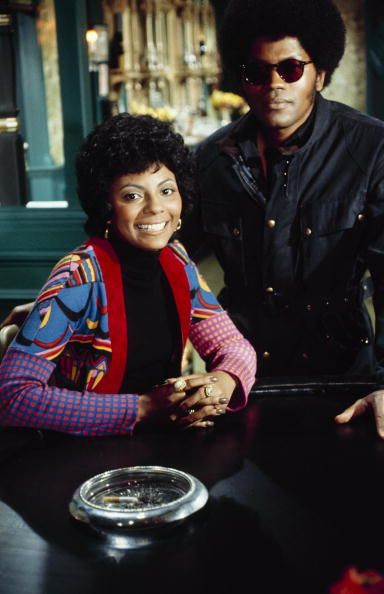 """Leslie Uggams and Clarence Williams III on the set of 'Mod Squad.' Ms. Uggams was a guest star in the episode, """"Kill Gently, Sweet Jessie,"""" which aired on January 18, 1972"""
