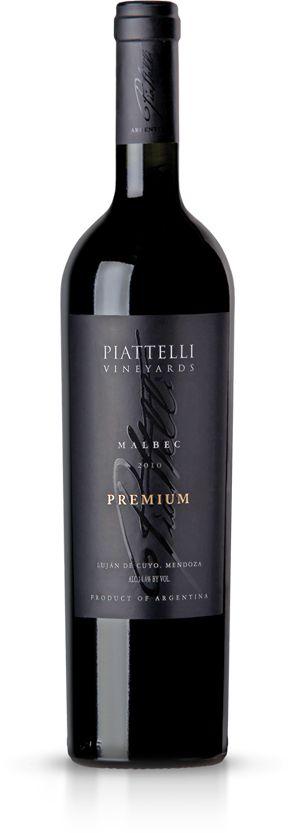 Piatelli Premium Malbec from Mendoza, Argentina. Deep berry and oak flavor.