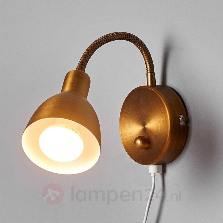Ideal Amrei beweeglijke wandlamp in oud messing veilig u makkelijk online bestellen op lampen