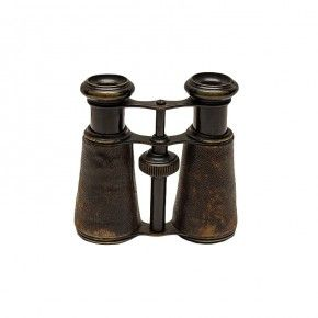 Vintage Brass and Leather Binoculars