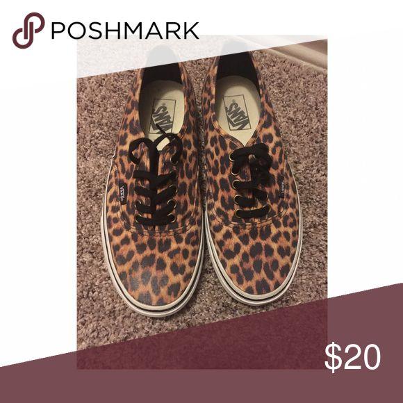 Leopard print vans Women's size. Worn a few times, good condition Vans Shoes Sneakers