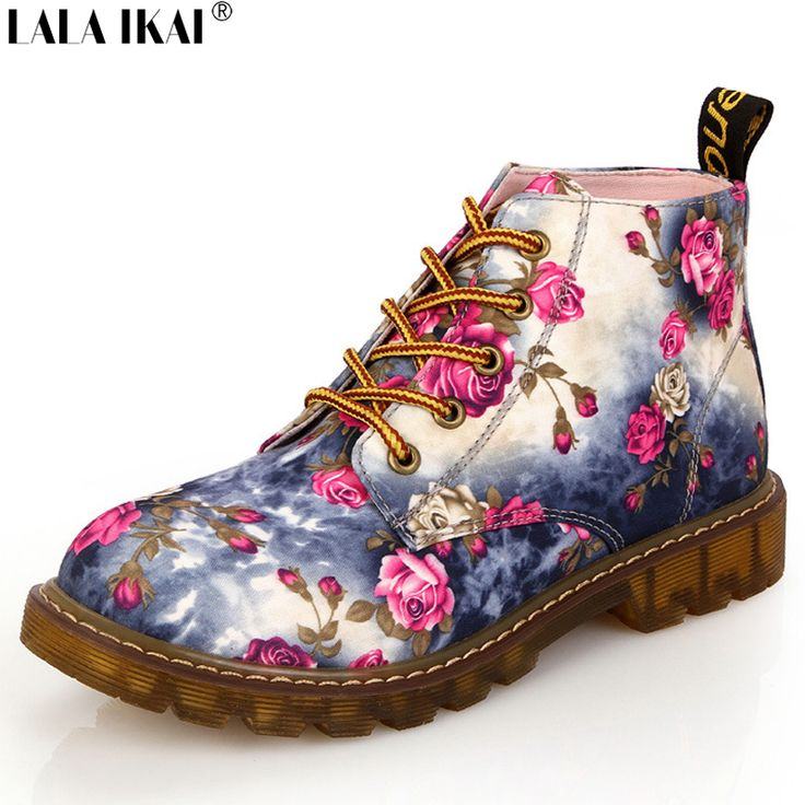 Fashion Women Boots Floral Printed Martin Boots Soft Sole Ankle Boots Lace up Platform Shoes Woman XWN0476 5-in Women's Boots from Shoes on Aliexpress.com | Alibaba Group