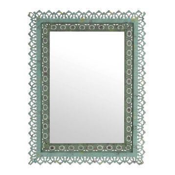 Adele Distressed Green Framed Mirror, 25x33 | Kirklands