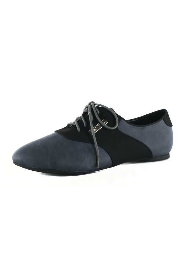 Golden West Keisha Lace-Up Oxford in Gray and Black