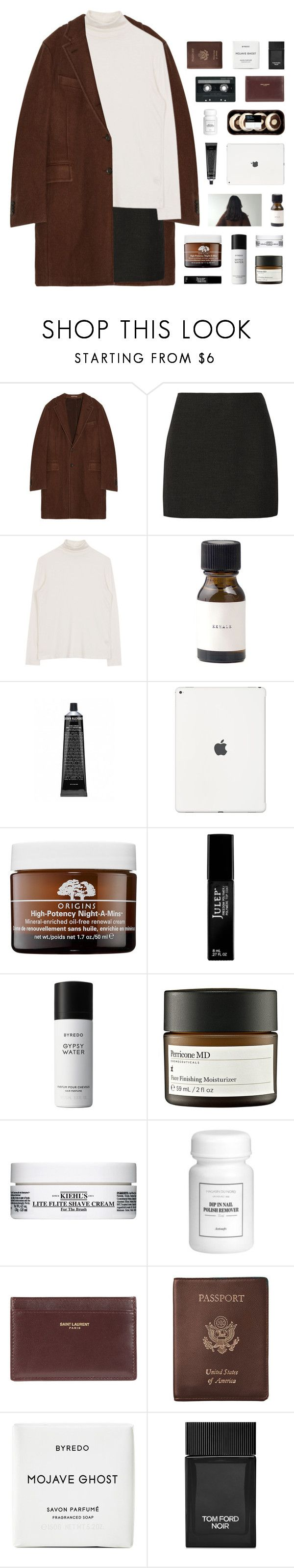 """- aren't we too grown for games? aren't we too grown to play around?"" by p-ureness ❤ liked on Polyvore featuring Boglioli, Alice + Olivia, Origins, Julep, Byredo, Perricone MD, Kiehl's, CASSETTE, Yves Saint Laurent and Royce Leather"