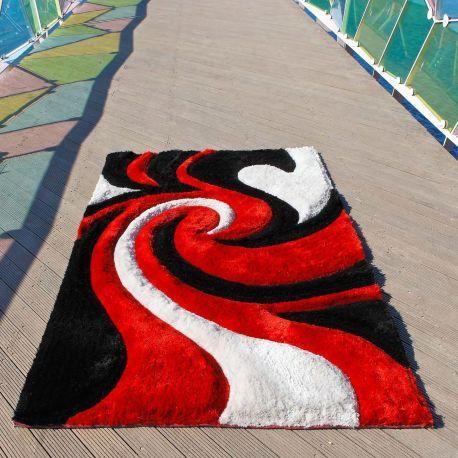 Compra online la alfombra Hell Carving. Alfombra sintética moderna con un diseño psicodélico que parece inspirado en una pesadilla.