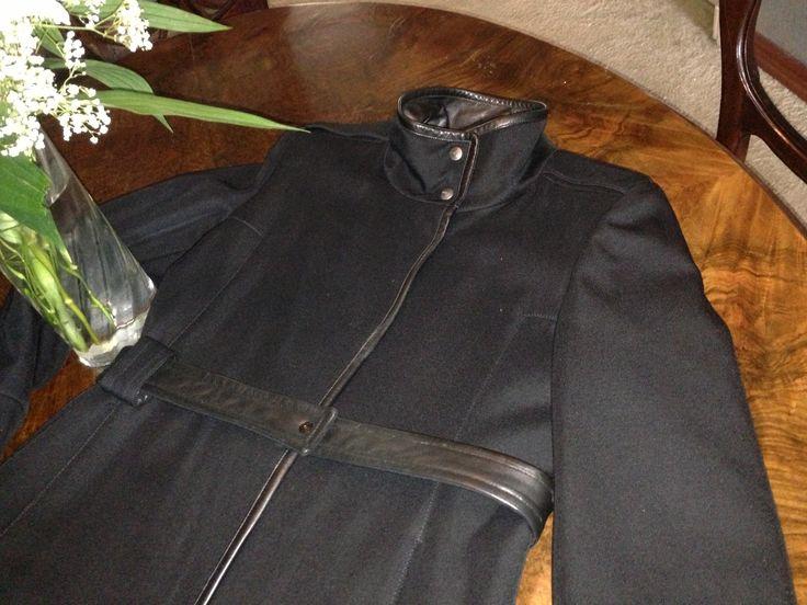 Super elegant mini overcoat with leather finishing JIL SANDER