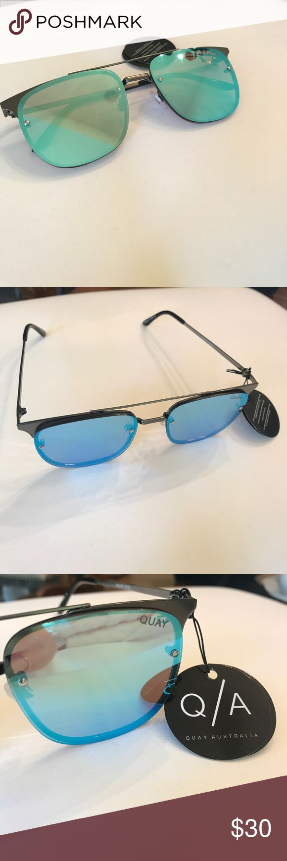 Quay Private Eyes sunglasses Quay Private Eyes sunglasses. PRIVATE EYES is the perfect balance of allure with attitude, set inside a sleek metal frame and winged at the temples. Lenses are blue mirrored. NWT never worn!!! Will ship in original packaging with case. Quay Australia Accessories Sunglasses
