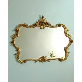 Smallhythe Mirror, Gold Ornate Frame Overmantle Mirrors