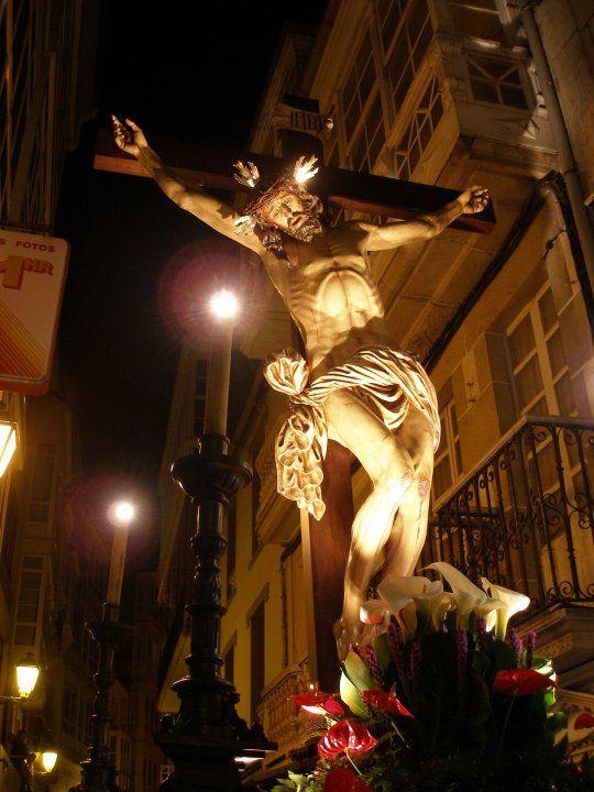 Cofrades de Viveiro: Miercoles Santo: Viacrucis de los Hombres...